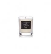 Čierna sviečka darčeková v skle malá borievka