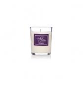 Svadobná sviečka darčeková v skle malá levanduľa